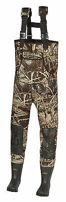 New Men 600 Gram MAX-4 Camo  Neoprene Hunting Chest Wader Lug Boots Size 7