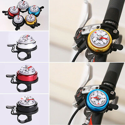 Bicycle Mountain Bike Handlebar aluminum alloy Bell Horn with Compass