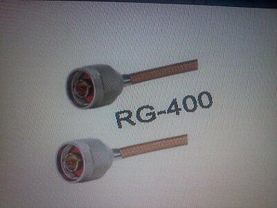US MADE  N plug  TO  N  plug  MIL-RG-400 coax cable  50  ft  (50 ohm )