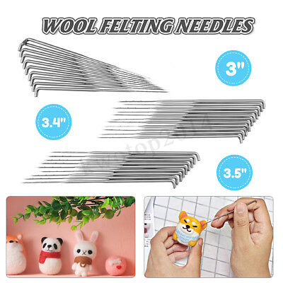 30PCS 3.5/3.4/3 Inch Mixed Felting Needles For Wool Felt Kit DIY Crafts Tool