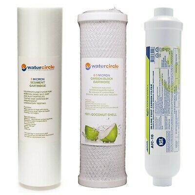 Replacement cartridge for Three stage water filter system 0.5 NSF COCONUT carbon