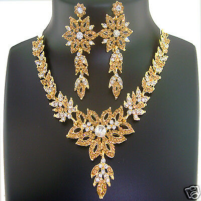 Indian Jewelry Bollywood Necklace New Bridal Gold Ethnic Traditional Fashion Set
