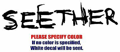 Seether Band Rock Music Vinyl Decal Car Sticker Window bumper Laptop Tablet 7""