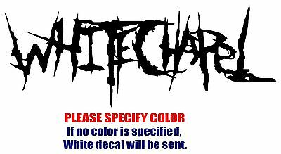 Whitechapel band Rock Music JDM Vinyl Decal Car Sticker Window bumper Laptop 7""