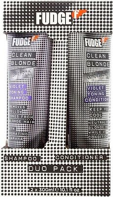 Fudge Clean Blonde Violet Toning Shampoo & Conditioner Duo 2 X 300ml THE BEST!!