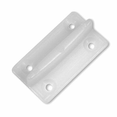 Plastic guide for sliding floor doors with groove, cabin garage hardware (30121)