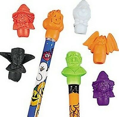 Pack of 24 - Halloween Pencil Top Erasers