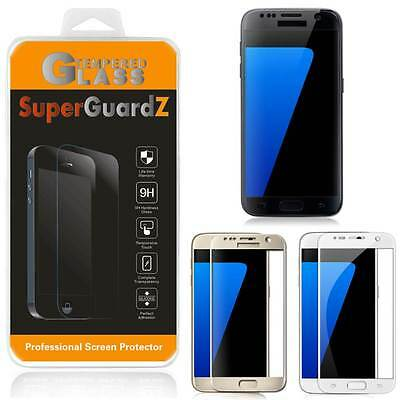 2X FULL COVER Tempered Glass Screen Protector For Samsung Galaxy S7 + 2 Stylus