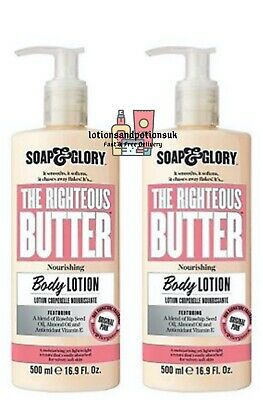 Soap And Glory THE RIGHTEOUS BUTTER Body Lotion - 500ml - 2 Pack Quantity