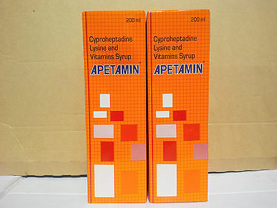 Apetamin Vitamins Syrup Stimulate Your Appetite  -  2 x 200ml