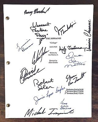 First Season Sopranos Script Autographed By 14 Cast Members!!