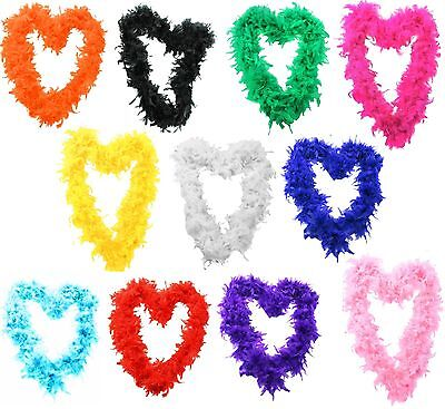 Feather Boa Mix Colour Garland Party Neck  Disco Wedding Birthday Club Fancy 2M