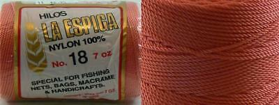 Omega Nylon Crochet Thread Size 18 - Coral Color #11 - Nylon Thread