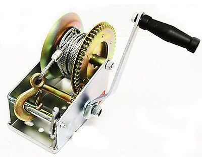 Hand Operated Powered Crank Manual Gear Wire Cable Winch for Boat ATV Trailer