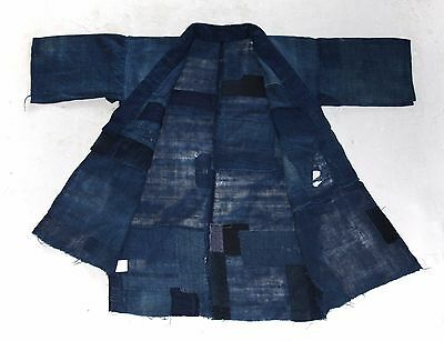 "Japanese Antiques-Indigo Boro Tsugihagi (Patch worked) ""Noragi"""