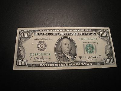 (1) $100.00 Series 1963 A Federal Reserve Note AU Circulated Condition.