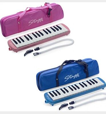 -- NEW--Stagg MELOSTA32 PK/BL 32 Note Melodica with Case | BRAND NEW | FREE P&P