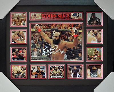 Kimbo Slice Signed Memorabilia Framed Limited Edition #b