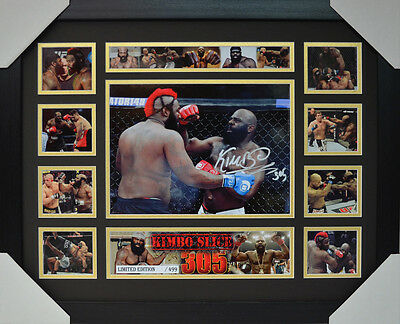 Kimbo Slice Signed Memorabilia Framed Limited Edition V2 #a