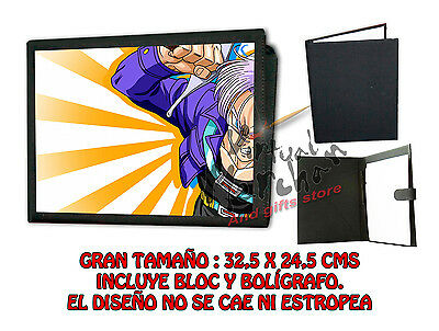 CARPETA TRUNKS DEL FUTURO DRAGON BALL LONETA NEGRA FOLDER bloc es