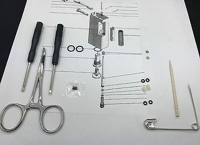 Lighter Repair KIT w TOOLS that Services 2 vintage dun-hill roll-a-gas lighters