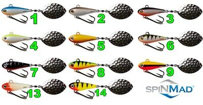 Spinning Tail SPINMAD JAG 18g Fishing Lure Bait Jig Spinner Spinnerbait Perch