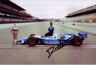 Jacques Villeneuve Signed 8X12 inches 1995 Indy 500 Victory Photo
