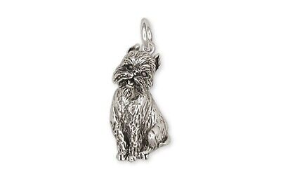 Brussels Griffon Charm Handmade Sterling Silver Dog Jewelry GF4-C