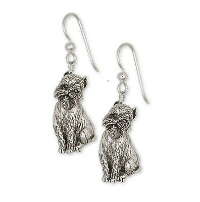 Brussels Griffon Earrings Handmade Sterling Silver Dog Jewelry GF4-E