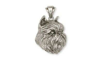 Brussels Griffon Pendant Handmade Sterling Silver Dog Jewelry GR1-P