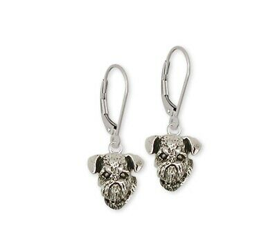 Brussels Griffon Earrings Handmade Sterling Silver Dog Jewelry GF11-E