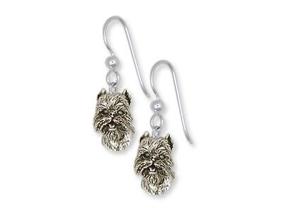 Brussels Griffon Earrings Handmade Sterling Silver Dog Jewelry GF5-FW