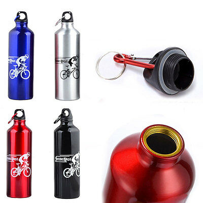 750ML Stainless Steel Sport Kettle Water Bottle Hiking Bicycle Cycling Drink Cup