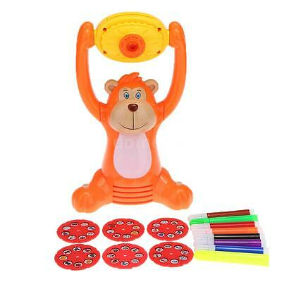 Monkey Shape Learning Projector Kids Artist Tracing Painting and Drawing J1T5