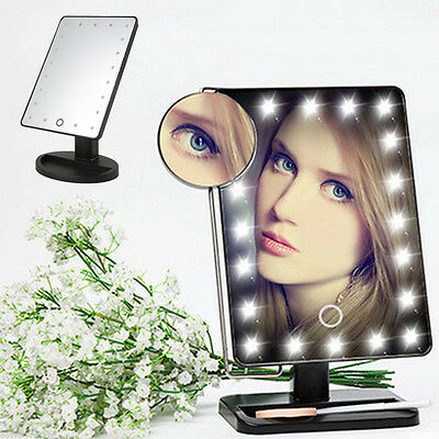 Makeup Cosmetic Folding Compact Mirror 21 LEDs Touch Lighted Make-up Mirror Hot