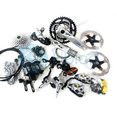 New 2014 Shimano Deore XT M780 M786 3x10-speed Full Group Groupset with Lockout