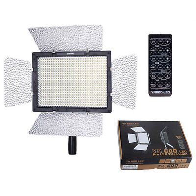 Yongnuo YN-600 5500K Pro LED Light Camcorder with Remote for Canon Nikon UK