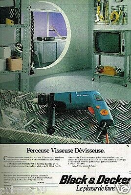 Publicité Advertising 1978 Bricolage Outillage Black