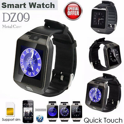 DZ09 Black Bluetooth Smart Watch phone GSM SIM Card For Android Iphone Samsung