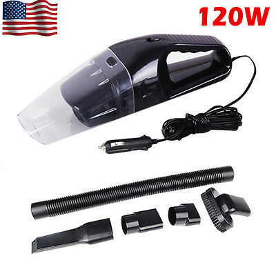 Black 120W Portable Wet & Dry Car Home Mini Handheld Vacuum Cleaner Accessories