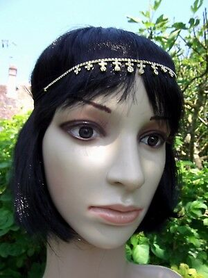 Headband, Bijoux De Tete, Plaque Or Et Pierres Serties,inde