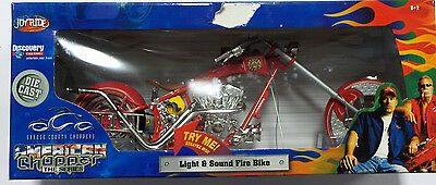American Chopper LIGHT & SOUND FIRE BIKE Die Cast Motorcycle *HUGE* Discovery