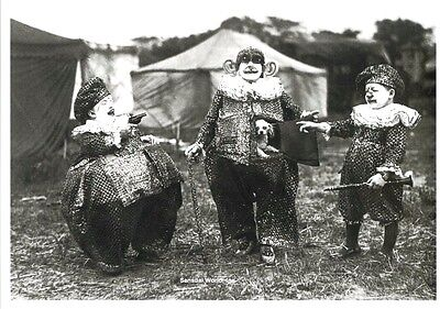 Postcard / Kassino Clowns with dog / Circus / 1920