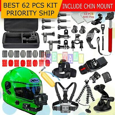 62in1 Head Chest Mount Floating Monopod Accessories Kit For GoPro 2 3 4 5 Camera