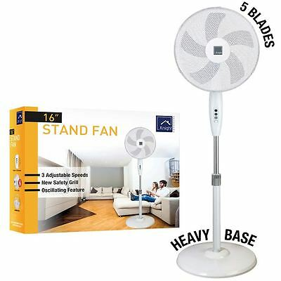 """16"""" Pedestal Oscillating Stand Standing Cooling Fan Office Home Cool Air Tower"""