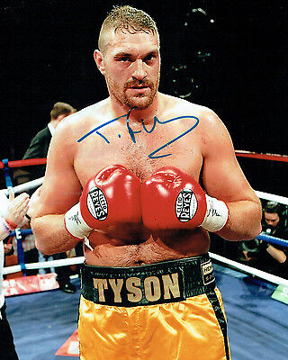 Tyson FURY Heavyweight Champion Boxer Signed 10x8 Photo A AFTAL COA Boxing
