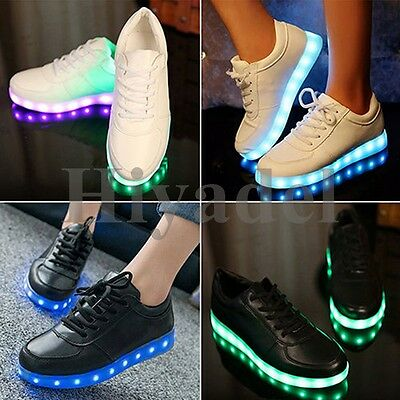 Unisex LED Light Lace Up Luminous Shoes Sportswear Sneaker Luminous Casual WOLZ