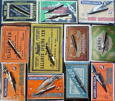UPDATE feb.11.: A collection of most SOLD pen nibs e.g. Perry 27,Tremplin