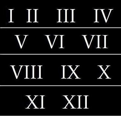 Roman Numeral Stencils 3 inch Numbers 1-12 Address Signs Vintage School
