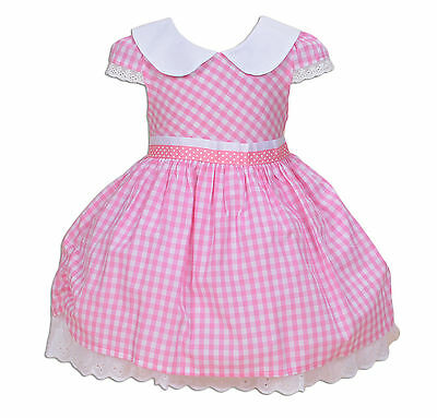 New Baby Girls Party Dress Pink Red Blue 3 6 9 12 18 Months